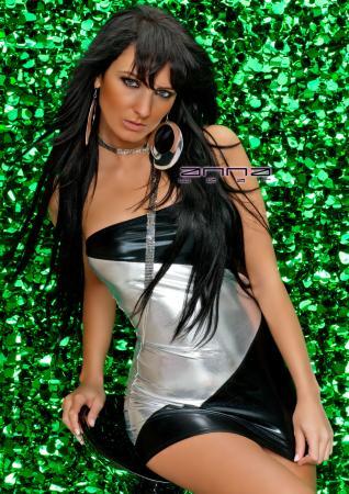 Minikleid schwarz/silber