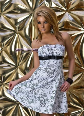 Trägerloses Cocktail-Kleid weiß