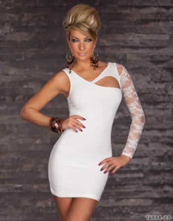 Asymmetrisches Minikleid weiß