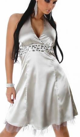 Petticoat Kleid silber