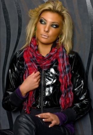 Karo-Schal rot/schwarz