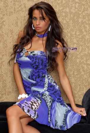 Chiffon-Kleid schwarz/lila