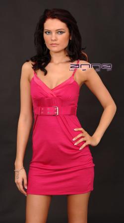 Shirt-Minikleid pink