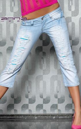 Capri-Jeans blau/hellblau