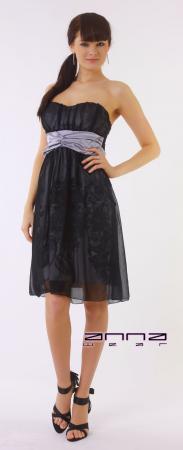 Chiffon Kleid in schwarz/silber