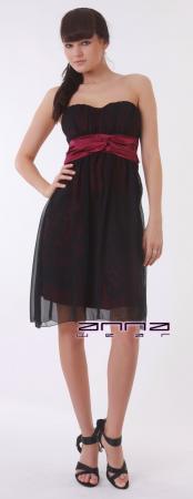 Knielanges Kleid in schwarz/violett