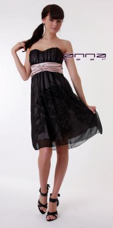 Kleid in schwarz/rosa