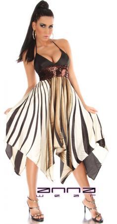 Kleid mit grafischen Streifen-Muster