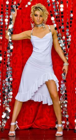 Latino Kleid weiß