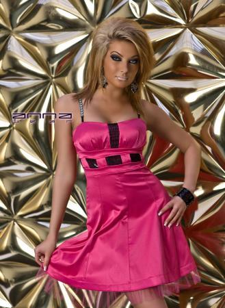 Satin-Kleid in pink