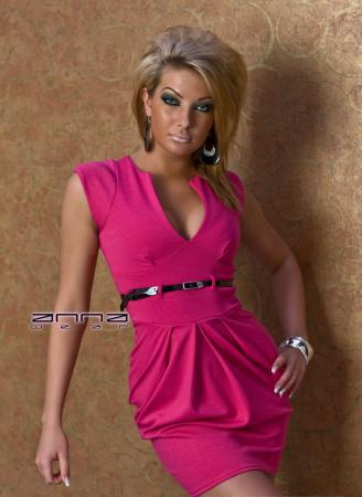 Elegantes Stretch-Kleid in pink