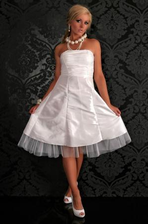 Petticoat Kleid weiß