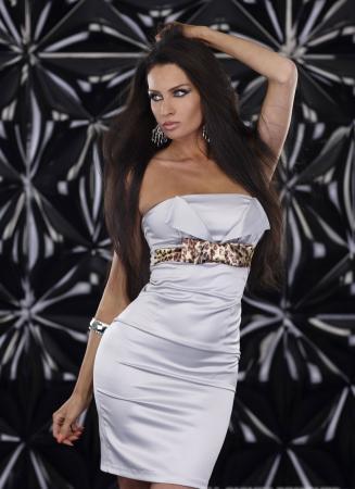 Elegantes Kleid in grau
