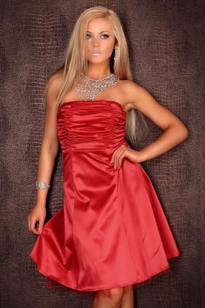 Petticoat Kleid rot