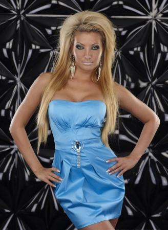 Elegantes Minikleid in blau