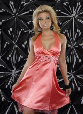 Petticoat Kleid von Fashion Wave coral