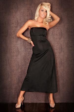 Abendkleid in schwarz