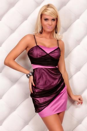 Minikleid von Mayaadi Deluxe pink/schwarz