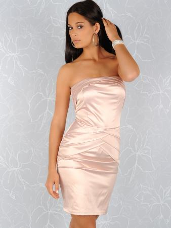 Edles Satin-Kleid in rosa