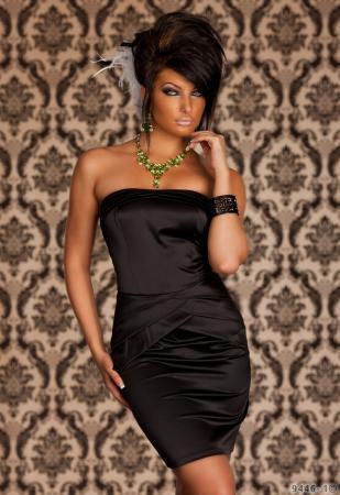 Edles Satin-Kleid in schwarz