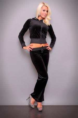 Nicki-Jogginganzug in schwarz