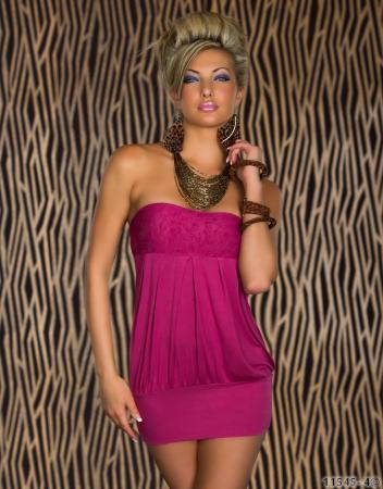 Bandeau-Minikleid pink