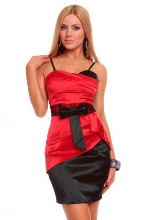 Cocktailkleid in schwarz/rot