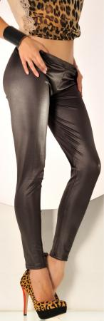 Leggings mit schimmer Effekt in dunkel grau