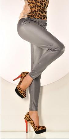 Leggings mit schimmer Effekt in grau/silber