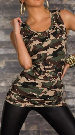 Camouflage-Long-Top