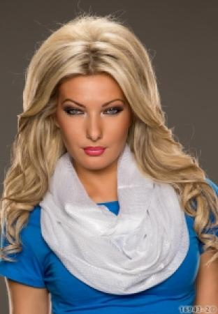 Schlauch-Schal in weiß