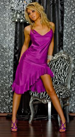 Latino Kleid lila