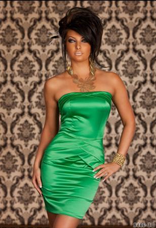 Edles Satin-Kleid in grün