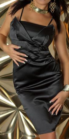Satin-Abendkleid schwarz