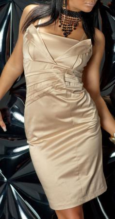 Satin-Abendkleid gold