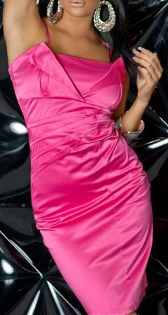 Satin-Abendkleid pink