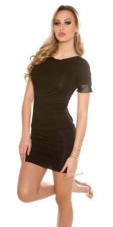Rückenfreies Minikleid mit Schleife, schwarz