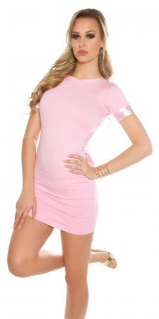 Rückenfreies Minikleid mit Schleife, rosa
