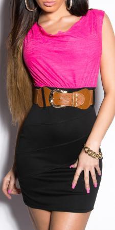 Minikleid schwarz/pink