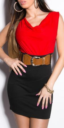 Minikleid schwarz/rot