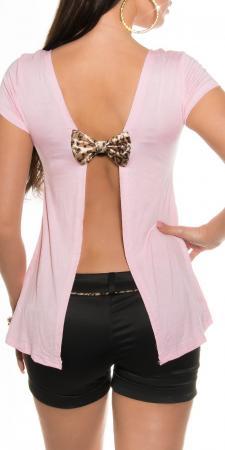 Rückenfreies-Shirt mit Schleife, rosa