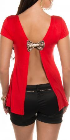 Rückenfreies-Shirt mit Schleife, rot