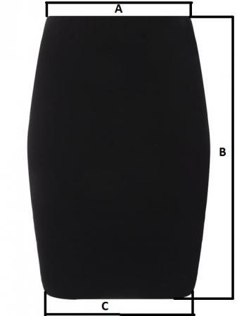 Talien-Minirock mit Zip und Gürtel, schwarz