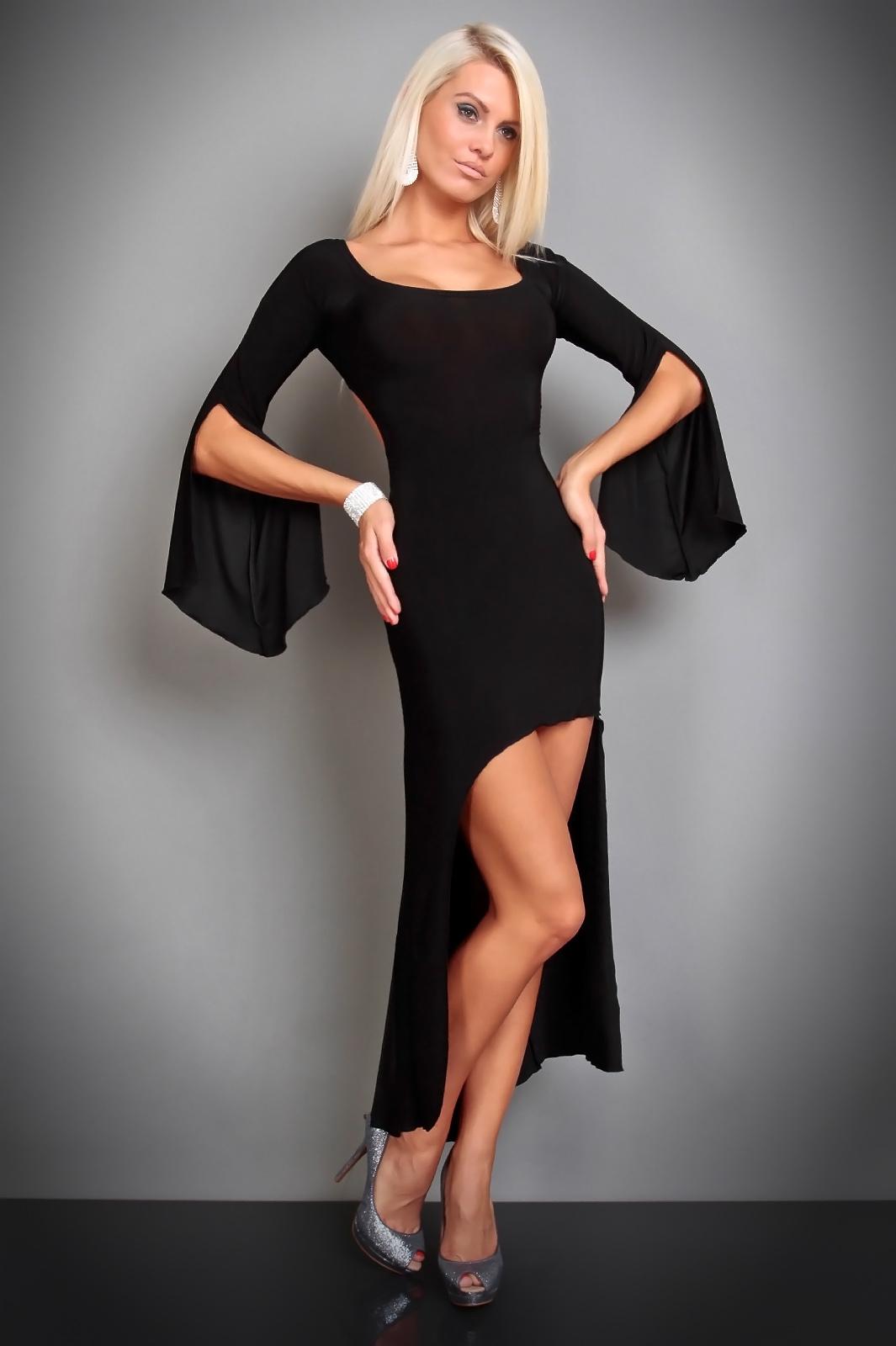 Extravagantes-Kleid in schwarz