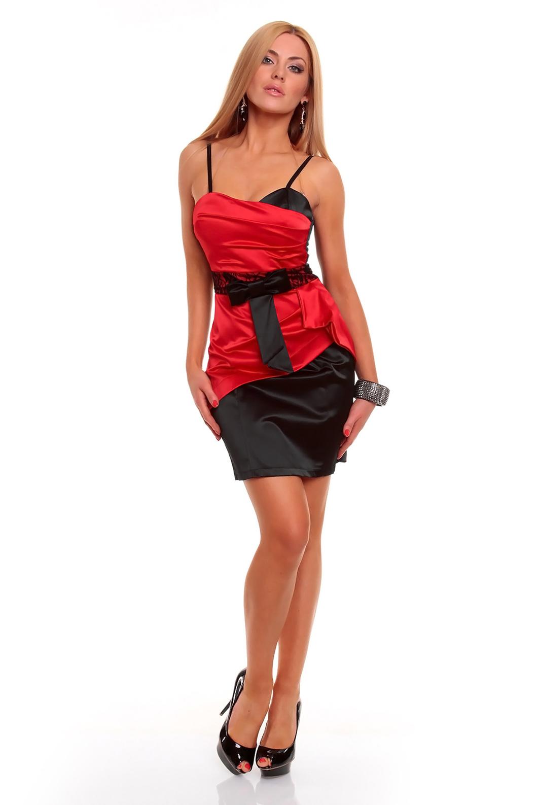 annawear - Cocktailkleid in schwarz/rot