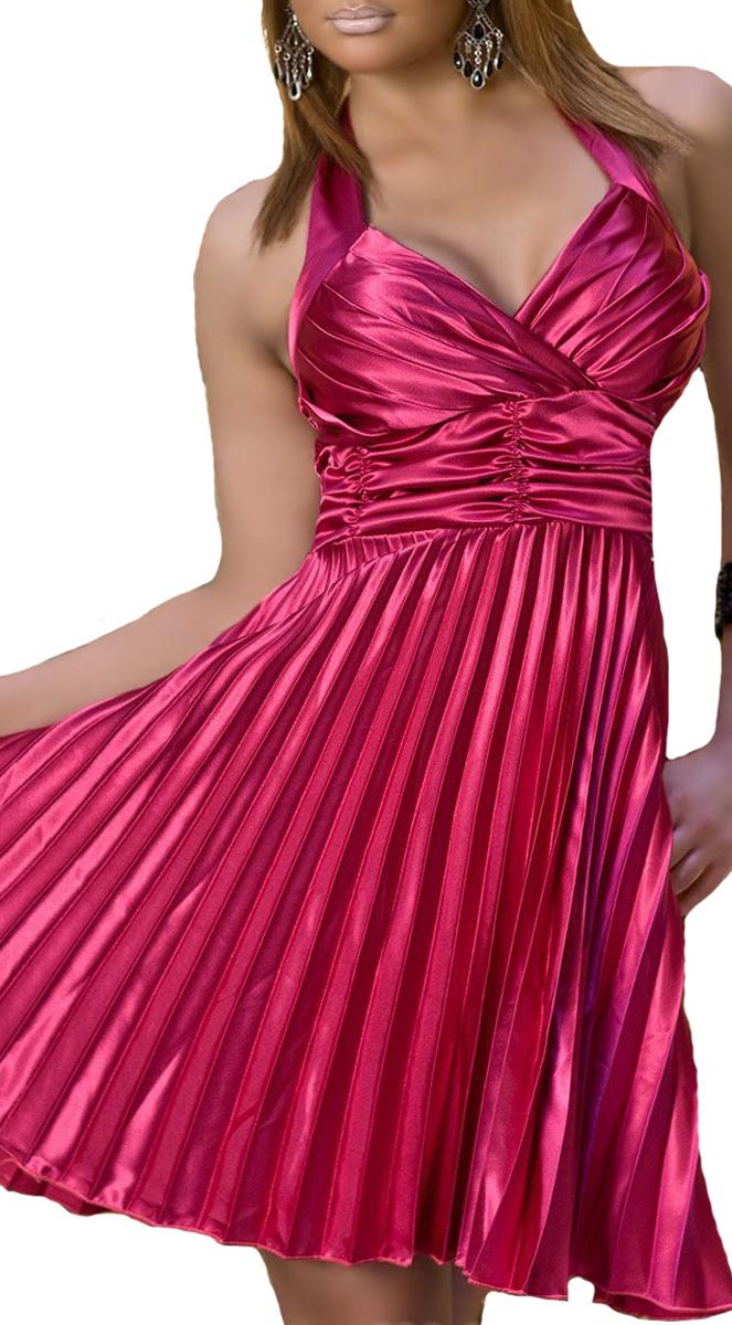 Plissee-Kleid in pink