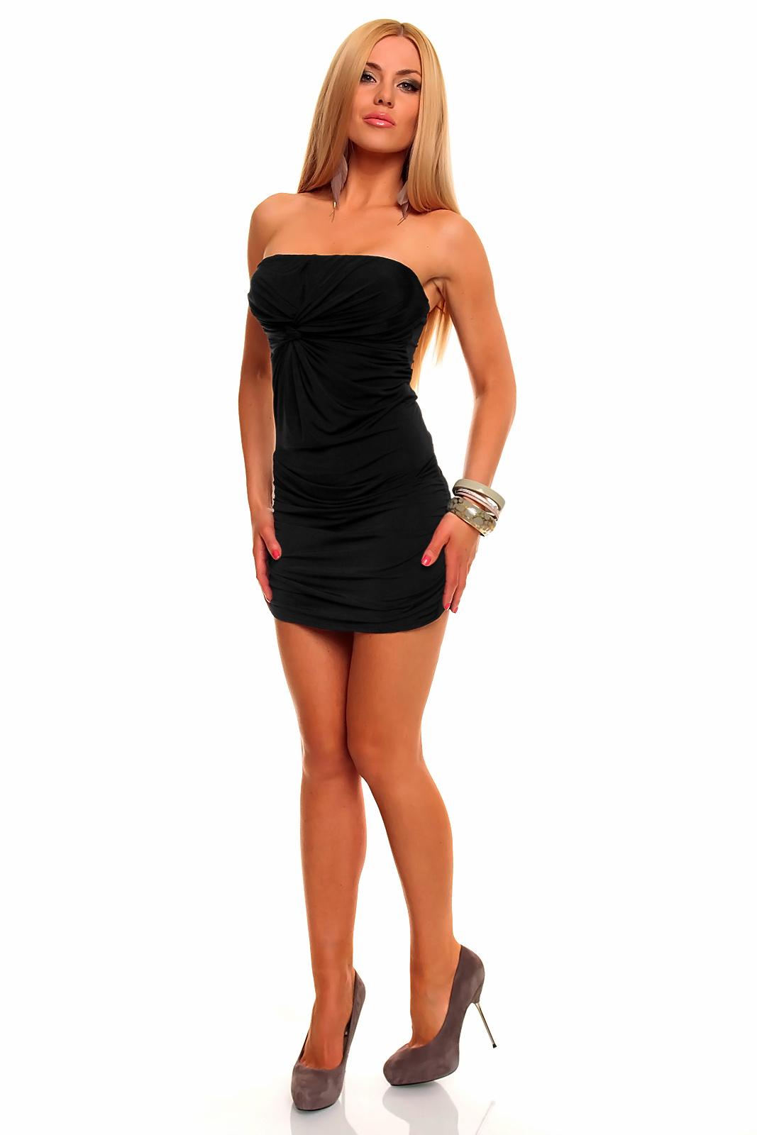 annawear - Bandeau-Stretch-Minikleid in schwarz