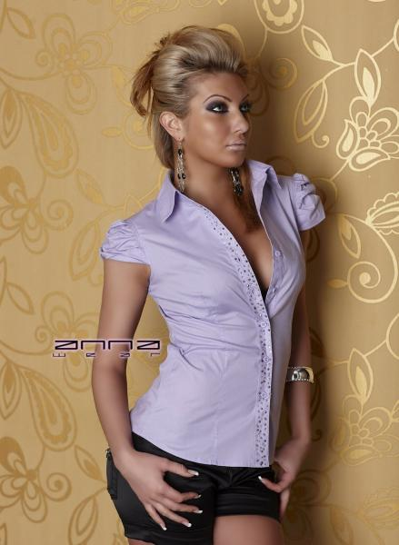 Stretch-Bluse flieder