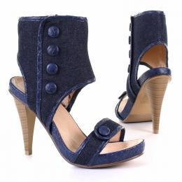 Ankle Sandals in blau